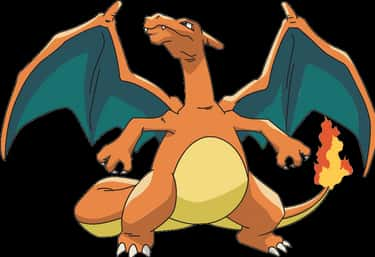 Charizard (200 lbs.) is listed (or ranked) 2 on the list 20 Giant, Fictional Things That Weigh Less Than The Rock