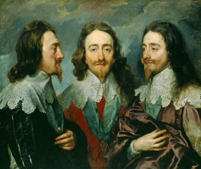 Charles I of England is listed (or ranked) 4 on the list The Different Physical Sizes Of British Monarchs