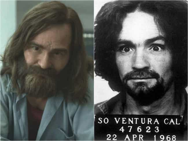 Charles Manson is listed (or ranked) 4 on the list 'Mindhunter' Actors Vs. The Real Offenders They're Playing