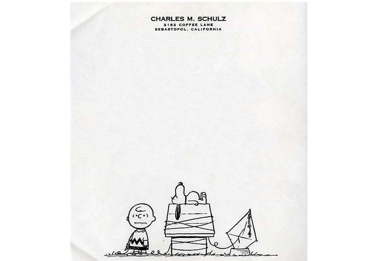 "Cartoonist Charles M. Schulz of ""Peanuts"" Fame Couldn't Leave Off Charlie Brown And Snoopy"