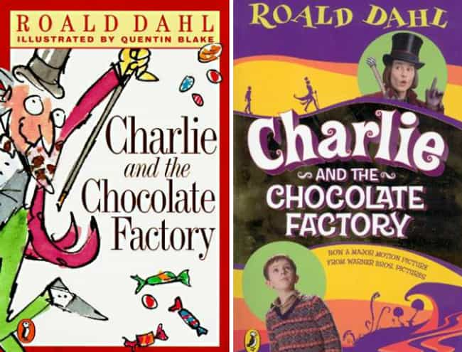 Charlie and the Chocolate Fact... is listed (or ranked) 1 on the list Original Book Covers and the Movie Reissue Covers That Ruined Them