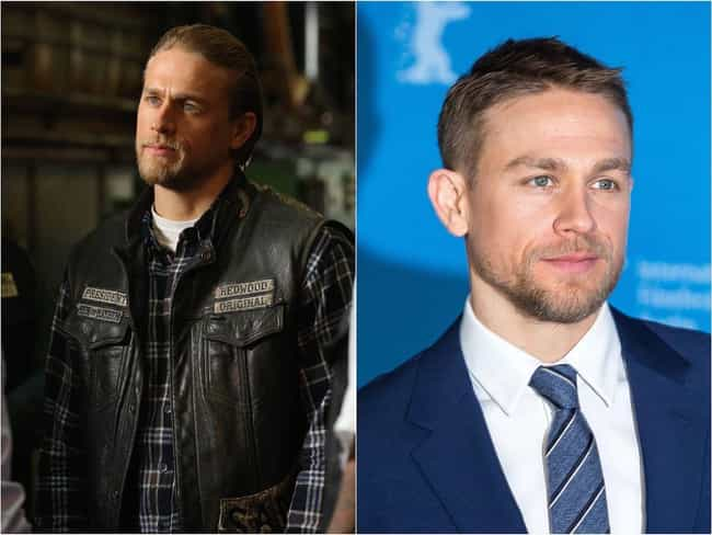 Charlie Hunnam is listed (or ranked) 1 on the list The 'Sons Of Anarchy' Cast Out Of Costume