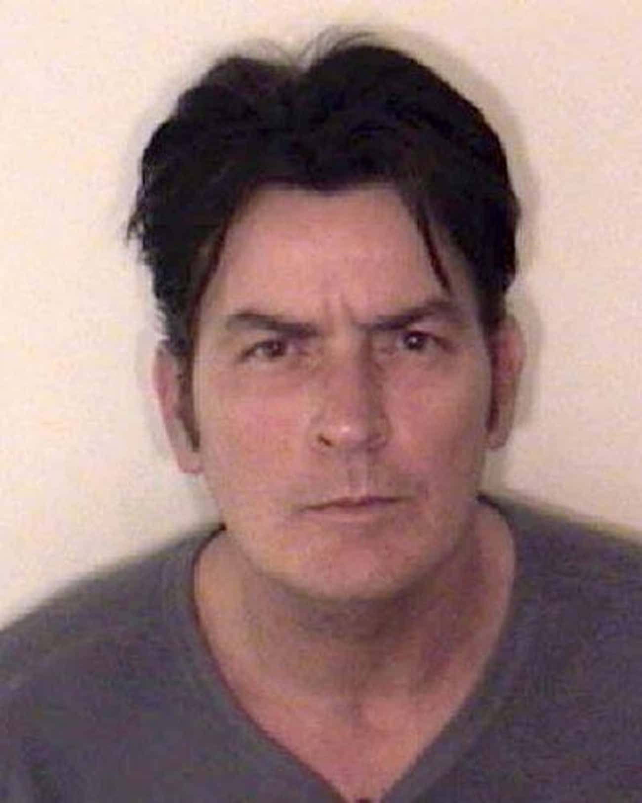 Charlie Sheen is listed (or ranked) 3 on the list Full List of All Celebrity Mug Shots