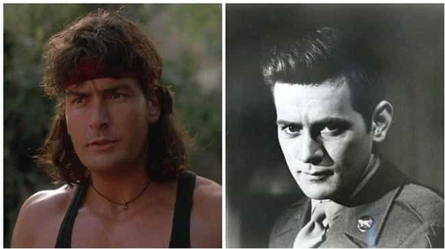 Charlie Sheen is listed (or ranked) 3 on the list 18 Photos Of Celebrities And Their Famous Parents At The Same Age