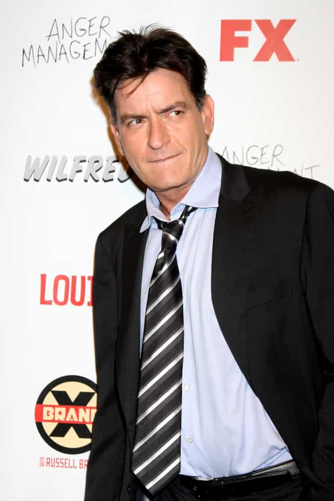 Charlie Sheen is listed (or ranked) 3 on the list Famous People With HIV