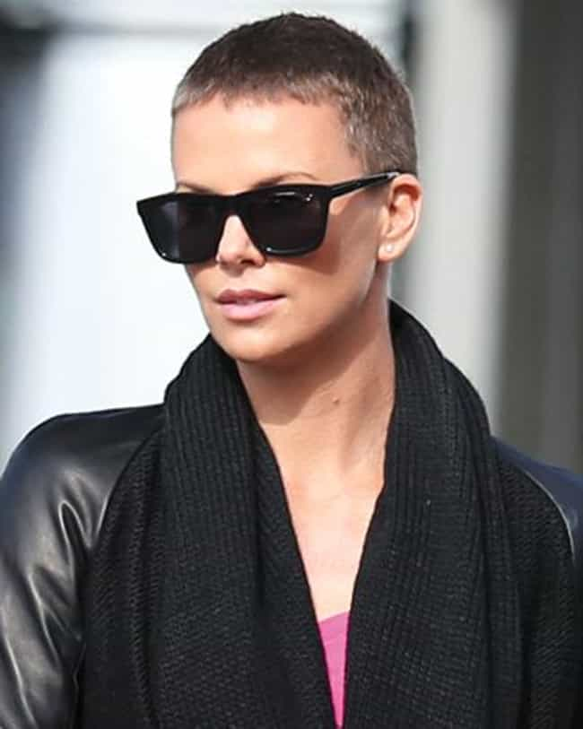 Charlize Theron is listed (or ranked) 4 on the list Beautiful Celebrity Women Who Shaved Their Heads