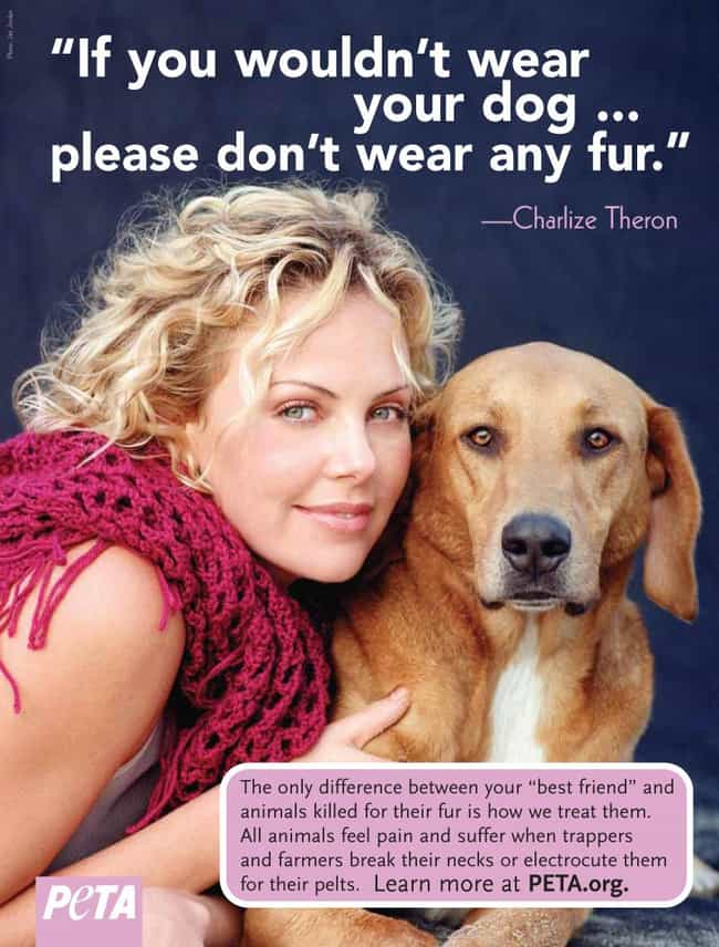 Charlize Theron is listed (or ranked) 1 on the list 75+ Celebrities Who Fight for Animal Rights
