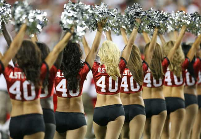 Cheerleading is listed (or ranked) 3 on the list Female Sports with the Hottest Athletes