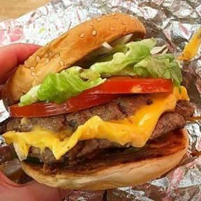 Cheese is listed (or ranked) 1 on the list The Best Toppings at Five Guys, Ranked