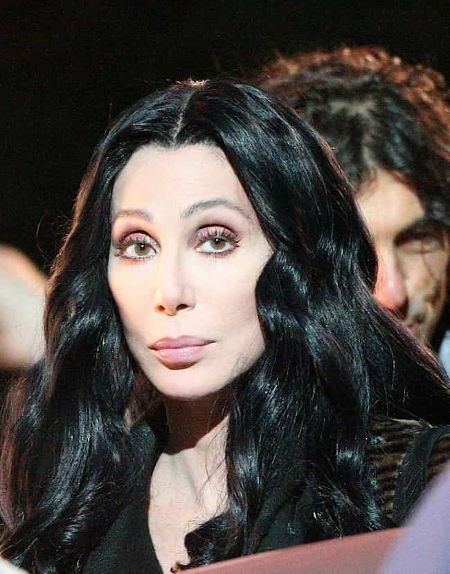 Cher is listed (or ranked) 1 on the list 13 Biggest Plastic Surgery Addicts