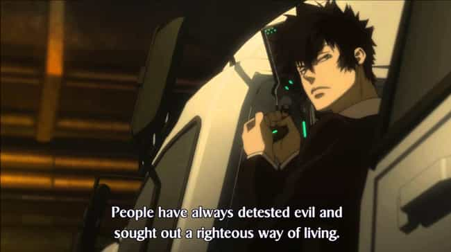 Psycho-Pass is listed (or ranked) 1 on the list 14 Brilliant Anime Intended For Intelligent Viewers