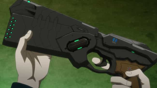Psycho-Pass is listed (or ranked) 6 on the list The 18 Coolest Anime Guns Of All Time