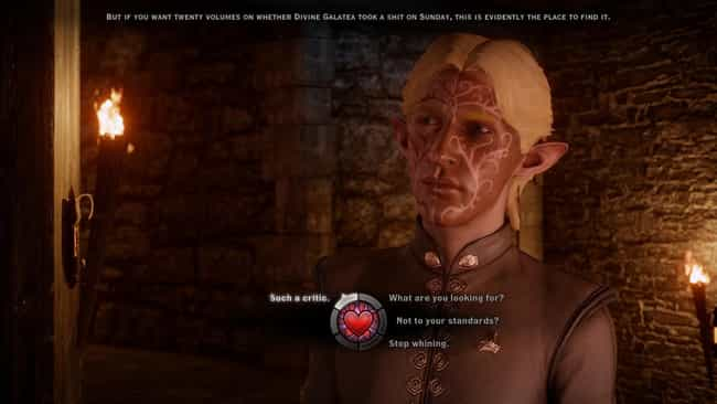 Dragon Age: Inquisition is listed (or ranked) 3 on the list 13 RPG Video Games With The Best Dialogue