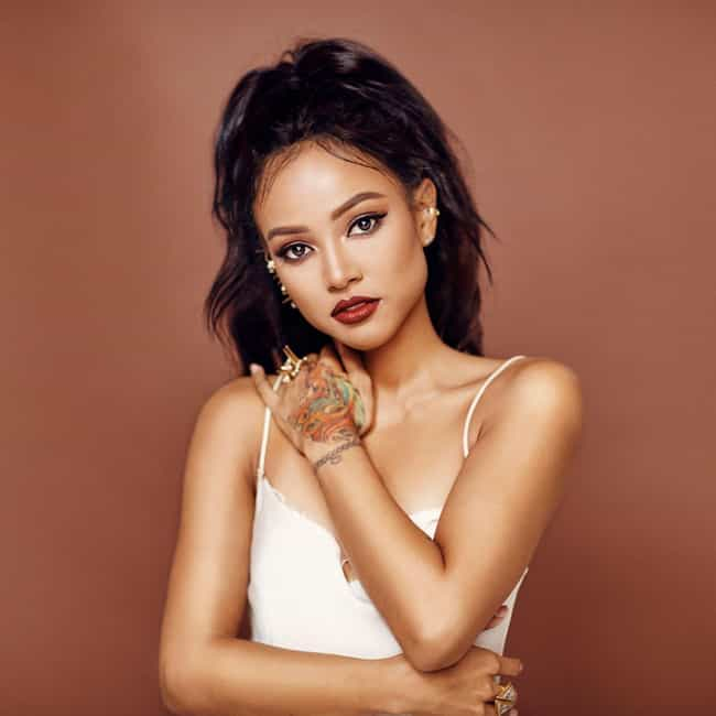 Karrueche Tran is listed (or ranked) 2 on the list Celebrities Who Are Half-Black And Half-Asian