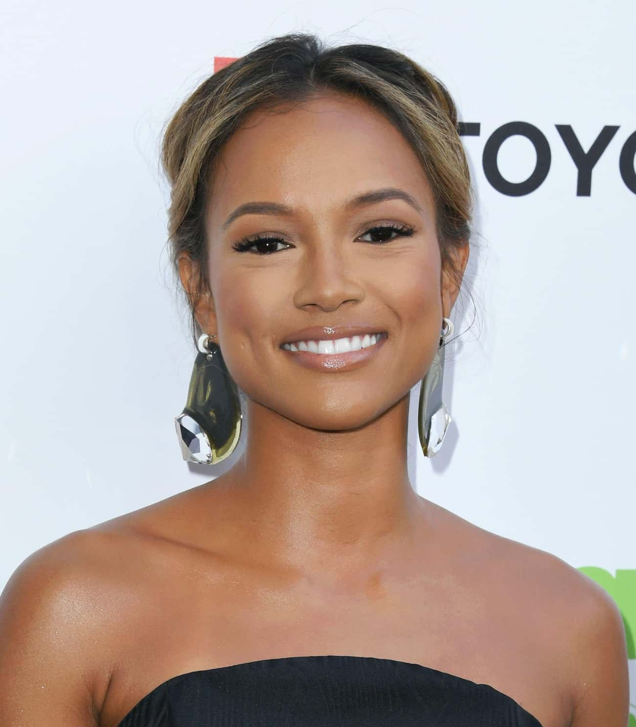 Karrueche Tran is listed (or ranked) 2 on the list James Harden Loves and Hookups