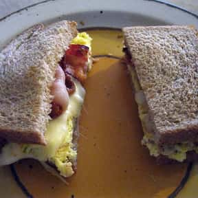 Bacon, egg and cheese sandwich is listed (or ranked) 21 on the list The Best Breakfast Foods