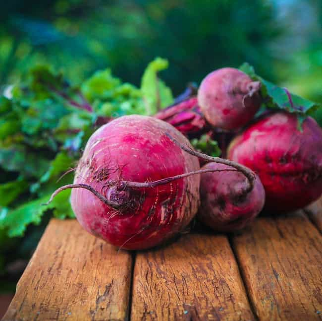 Beets, cooked is listed (or ranked) 2 on the list Things That Change the Color of Your Poop