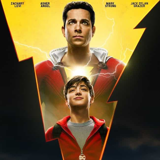 Shazam! is listed (or ranked) 4 on the list The Coolest Movie Posters for 2019 Films