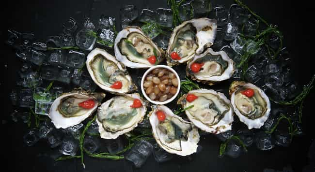 Oysters is listed (or ranked) 2 on the list 15 Aphrodisiacs And What They Actually Do To Your Body