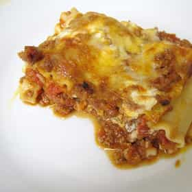 Vegetable Lasagna with Meat Sauce