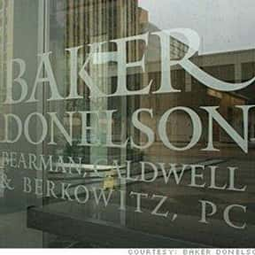 Baker Donelson is listed (or ranked) 1 on the list Companies with Highest Paid Salary Employees