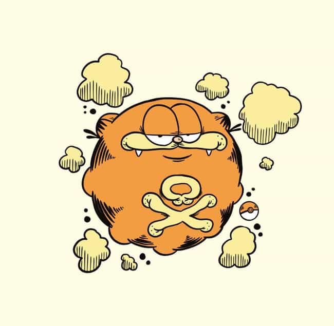 Koffing is listed (or ranked) 1 on the list 30 Pokemon Drawn As Garfield, Just Because