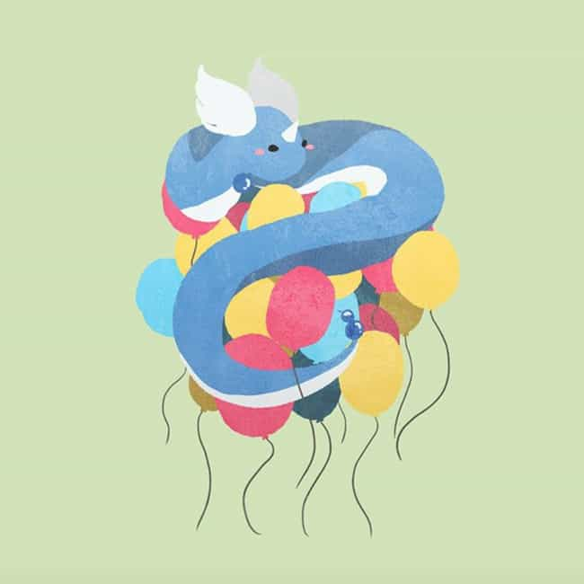 Dragonair is listed (or ranked) 4 on the list 35 Pokemon Reimagined As Adorable Minimalist Art