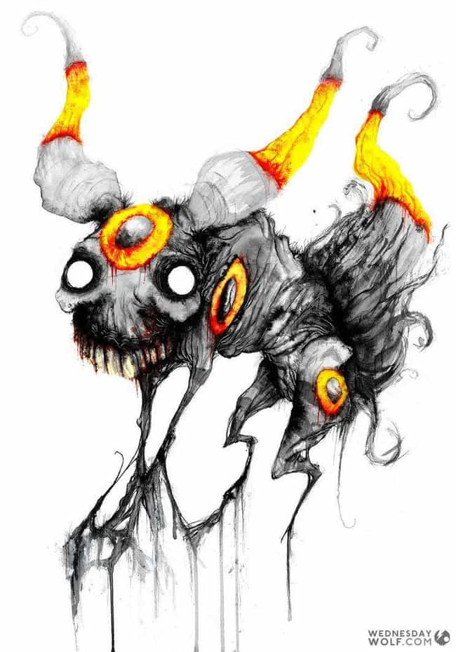 Umbreon is listed (or ranked) 1 on the list Wednesday Wolf Creates Pokemon You'd Only Encounter In Your Nightmares