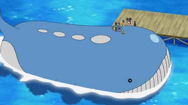 The Pokémon Wailord Is Less De is listed (or ranked) 1 on the list 13 Anime Characters Whose Weights Can't Possibly Be Real