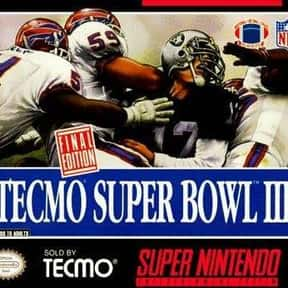 Tecmo Super Bowl III: The Fina is listed (or ranked) 8 on the list The Best American Football Games of All Time