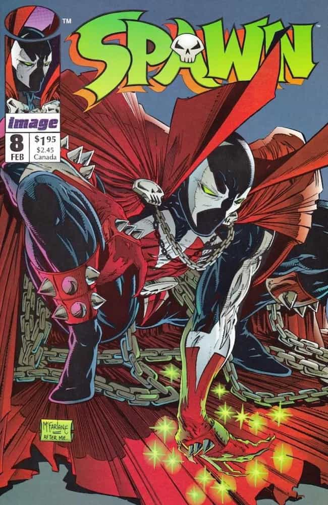 Spawn is listed (or ranked) 1 on the list The Most X-TREME '90s Comic Book Characters