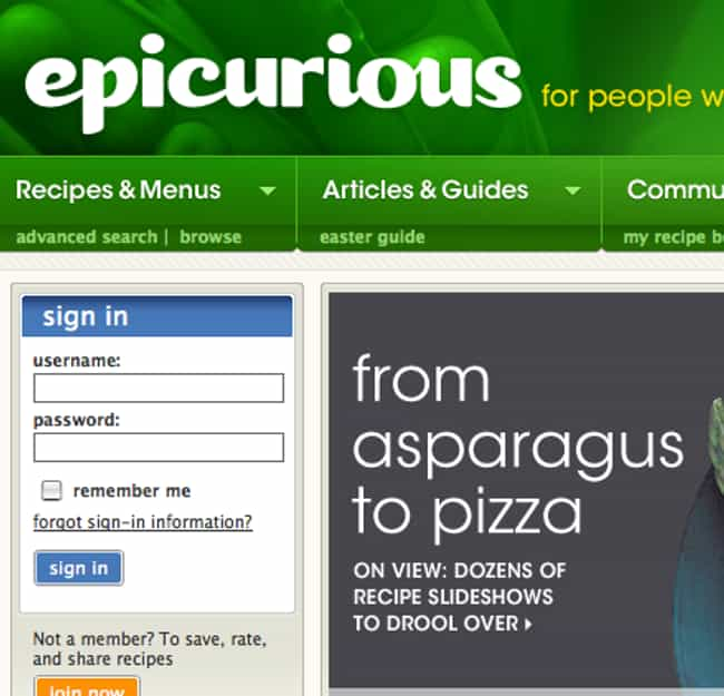 Epicurious Is Listed Or Ranked 1 On The List Best Recipe