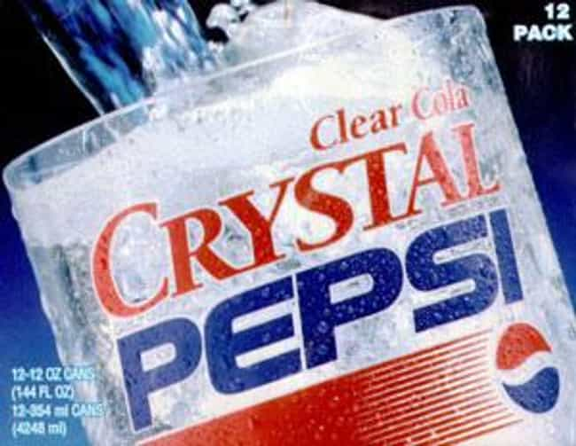 Crystal Pepsi is listed (or ranked) 4 on the list The Most Disgusting Food All '90s Kids Ate
