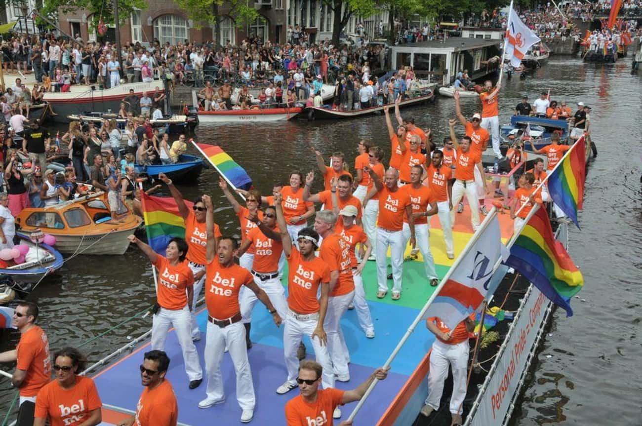 Amsterdam Gay Pride is listed (or ranked) 4 on the list The World's Best LGBTQ+ Pride Festivals