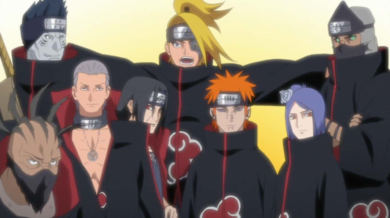 The Akatsuki Is Involved In Mo is listed (or ranked) 1 on the list Which Anime Has The Best Group of Villains?