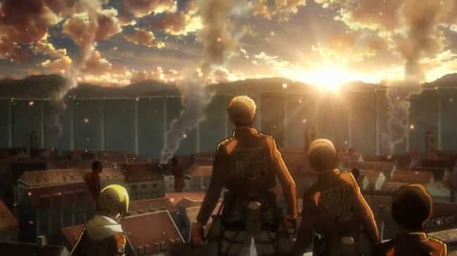 Attack on Titan is listed (or ranked) 1 on the list The 15 Most Dangerous Locations in Anime History
