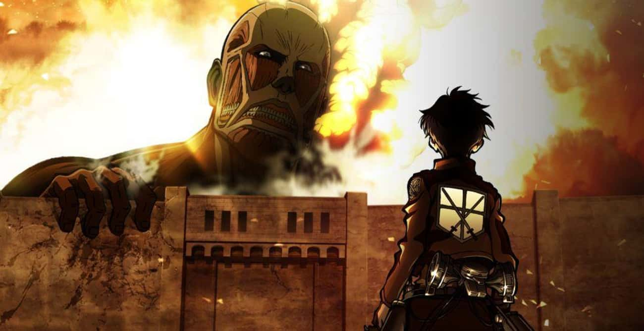 The Titans in 'Attack On T is listed (or ranked) 2 on the list 16 Random Facts About Anime That Might Just Blow Your Mind