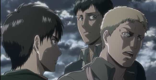 Attack on Titan is listed (or ranked) 4 on the list 14 Anime Plot Twists That Left Your Jaw On The Floor