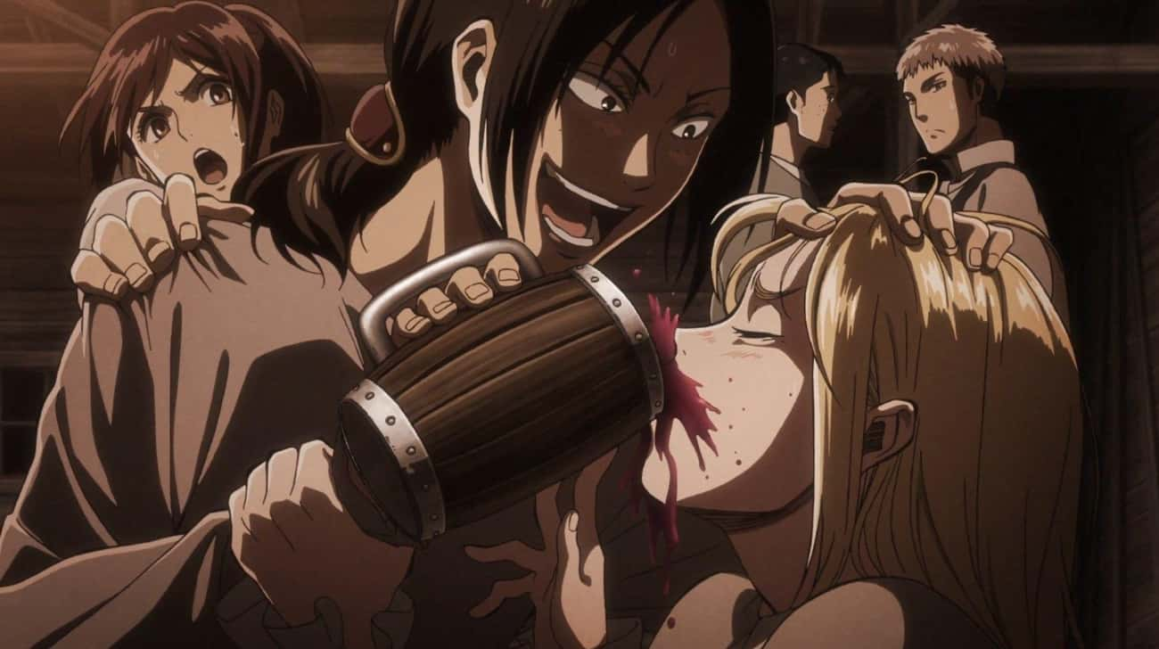 Attack On Titan is listed (or ranked) 3 on the list Anime Drinking Games To Get Your Non-Anime Friends In On The Action