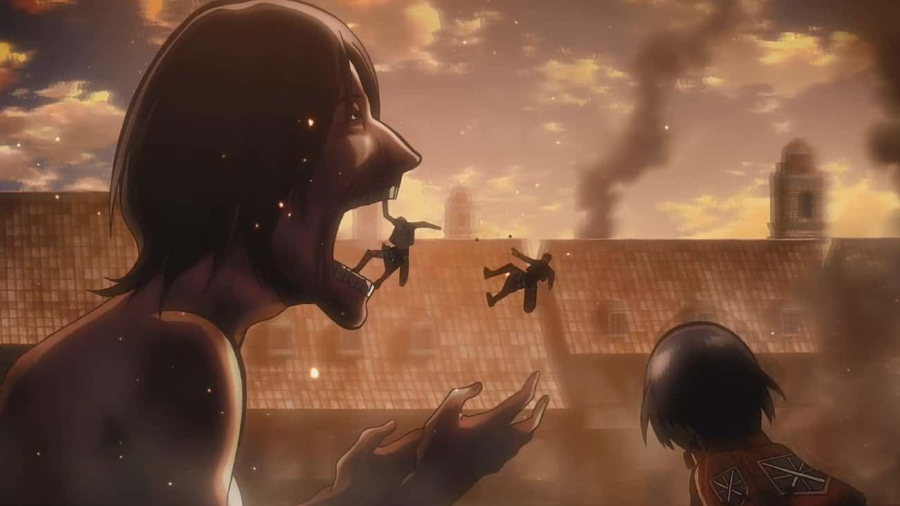 Attack On Titan is listed (or ranked) 4 on the list 14 Anime With Too Many Character Deaths To Keep Up With