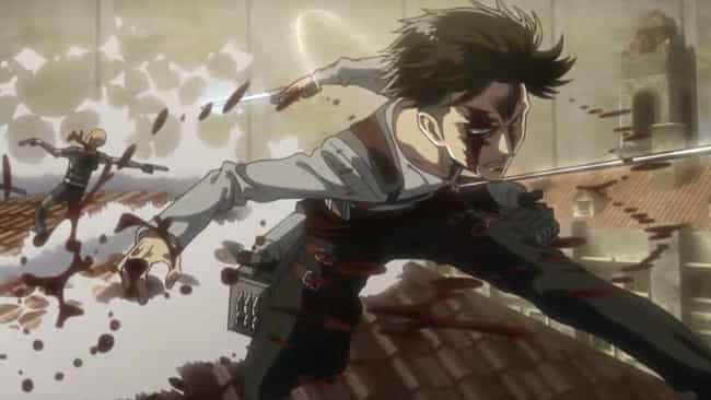 Attack on Titan is listed (or ranked) 2 on the list The 10 Craziest Anime Moments of 2018