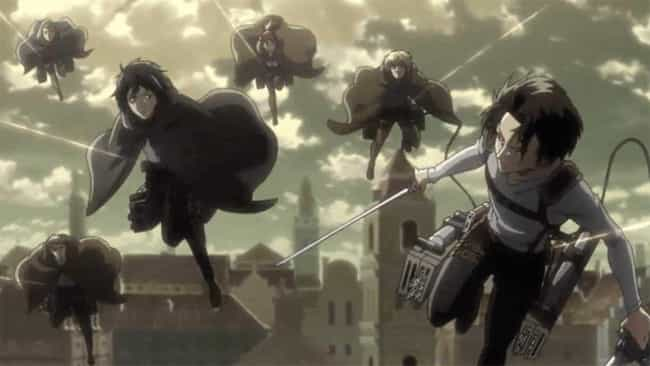 Attack on Titan is listed (or ranked) 4 on the list The 14 Greatest Anime Rescue Missions of All Time