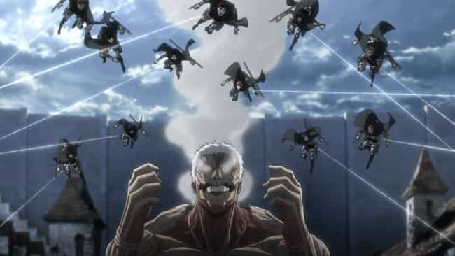 Attack on Titan is listed (or ranked) 4 on the list The 15 Best Anime About Slaying Monsters