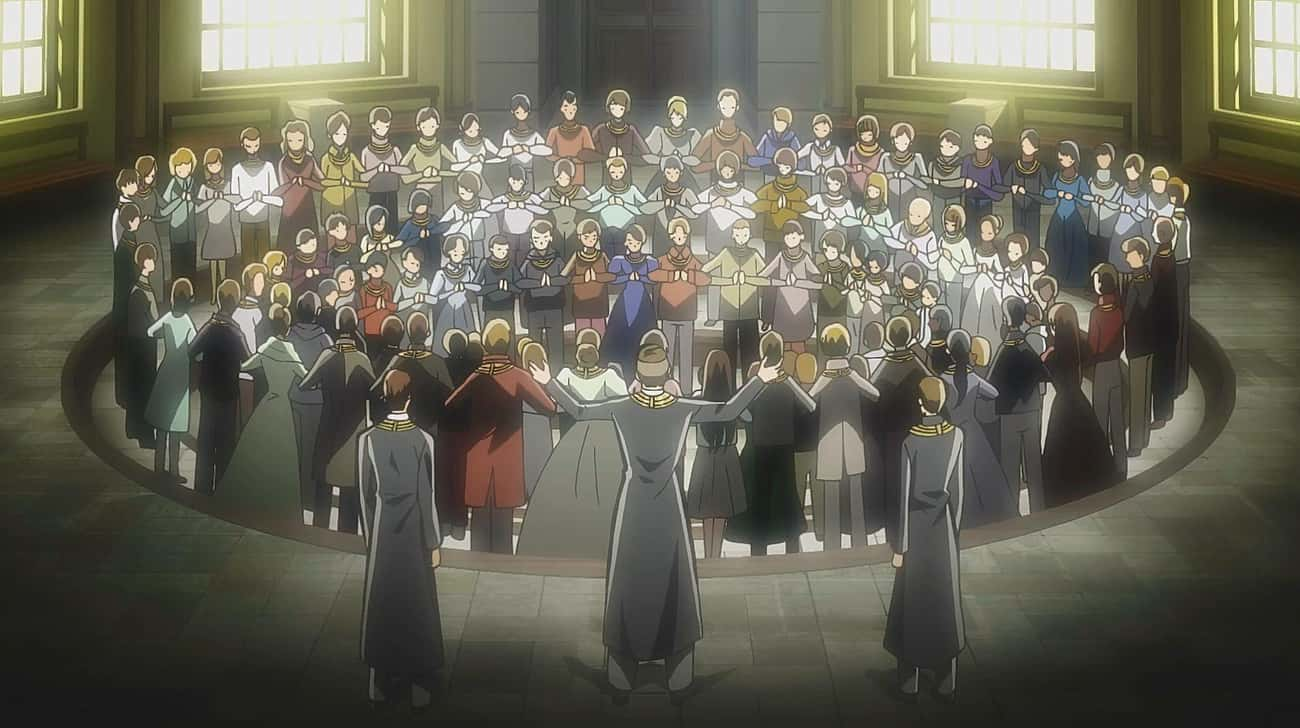 Church Of The Walls — Attack O is listed (or ranked) 3 on the list The 15 Most Bizarre Anime Cults That Make Real Ones Look Normal