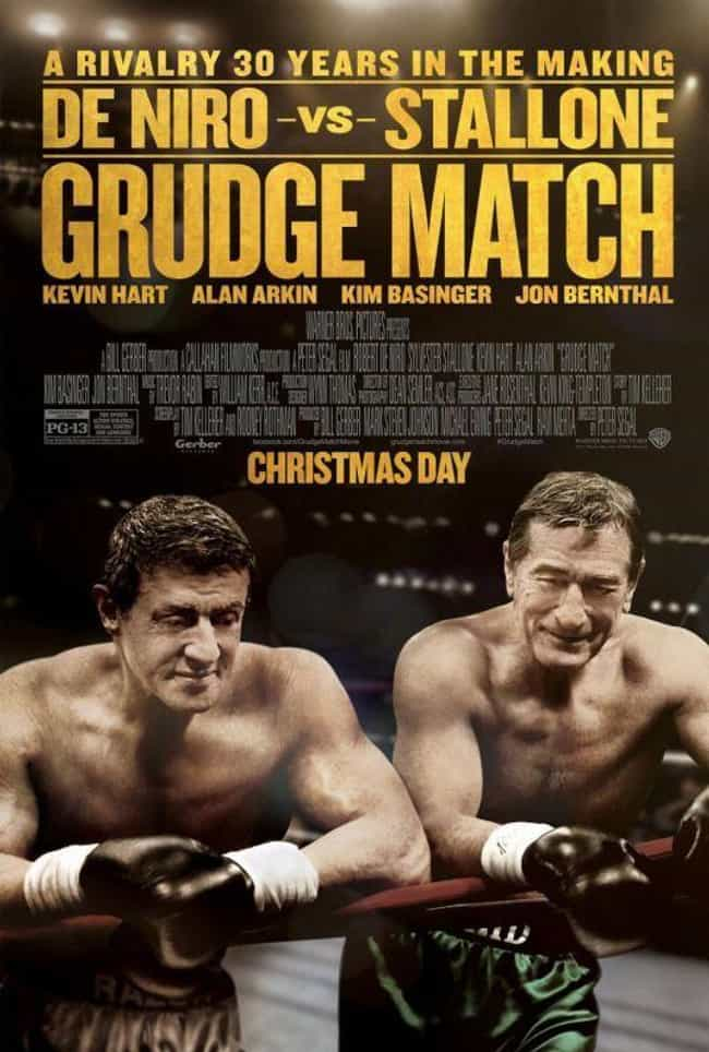 Grudge Match is listed (or ranked) 2 on the list Movie Posters Where Actors Heads Are Clearly Photoshopped Onto Different Bodies