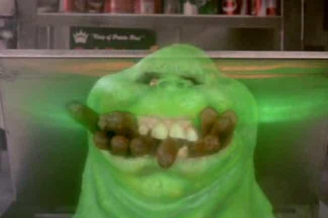 Slimer is listed (or ranked) 3 on the list Every Ghost in the First Two Ghostbusters Movies
