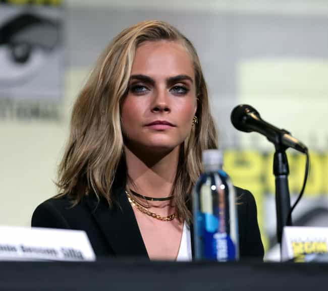 Cara Delevingne is listed (or ranked) 4 on the list Resting Bitch Face: Who Does It Best?