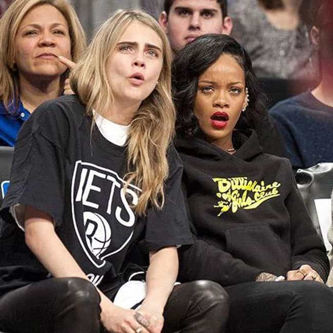 Cara Delevingne is listed (or ranked) 7 on the list Celebrity Nets Fans