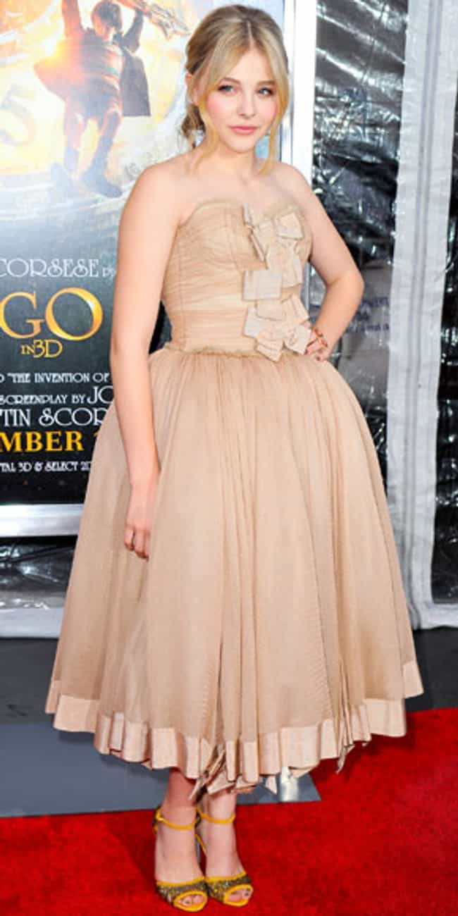 Chloë Grace Moretz ... is listed (or ranked) 4 on the list Celebrities in Dolce & Gabbana Dresses