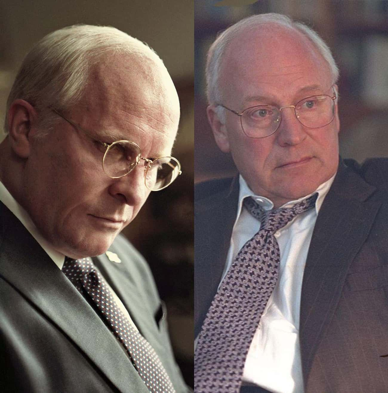 Christian Bale Vs. Dick Cheney is listed (or ranked) 4 on the list 21 Actors Vs. The Historical Figures They Portrayed On-Screen